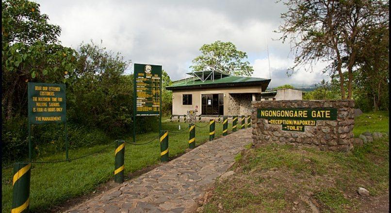 Ngongongare gate in Arusha Park